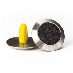 Warning Tactile Round Black Carborundum